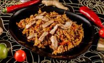 ბრინჯი ღორის ხორცით