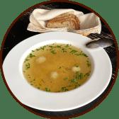 Суп курячий з домашньою локшиною та фрикадельками (300г)