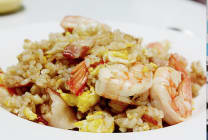 Prawn Vegetable Fried Rice with soup