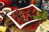 D5-ძროხის ხორცი მოტკბო-მომჟავო სოუსში
