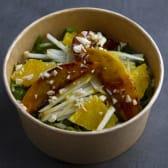 მწვანე სალათი ხილით ( ვეგანური)
