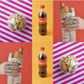 Хот-дог 2 шт + Кекс (100г) 2шт + Напій Coca Cola (0.5л) 2 шт