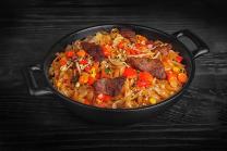 Рисова лапша в соусі пад-тай з телятиною (350г)