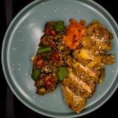 Курка кацу з імбирним рисом (370г)