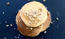Pancake with honey and nuts