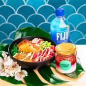 Poke coca amb tonyina menú (grande)