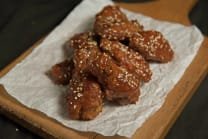 Chicken wings with in bbq sauce