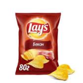 Чіпси картопляні зі смаком бекону Lay's (133г)