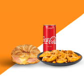 კრუასანი ლორით და ყველით/Combo  Croissant with Han and Cheese