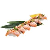 NEW Нігірі з лососем абурі (200г)
