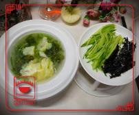 A10 წვნიანი კვერცხით და წყალმცენარეებით