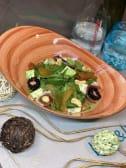 Салат з карамелізованою грушею, хамоном та сиром Дор Блю (250г)