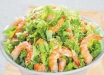 Salade de Choux aux Crevettes