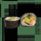 97. Futomaki vegetal de papaya, mango, pepino y aguacate (8 uds)