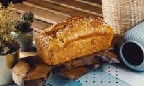 შვრიის პური, წითელი დოლის და ლომთაგორას ფქვილით  - 700გრ