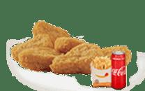 6 ცალი ნაგეთსის მენიუ/6 Pieces King Nuggets Menu