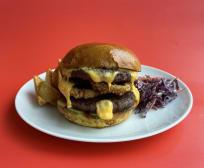 Дабл бургер меню(390/100/30г)