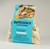 Вареники з картоплею та грибами заморожені (500г)
