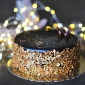 შოკოლადის ტორტი ალუბლით და შოკოლადის კრემით (18დმ)