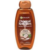 Champú con aceite de coco y manteca de cacao para cabello rebelde y difícil de alisar