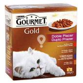 Comida húmeda para gatos adultos gourmet gold doble placer