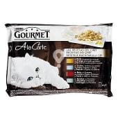 Comida húmeda para gatos adultos Gourmet a la Carte Recetas del Chef Mix 4 x 85 gr