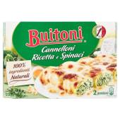 Cannelloni di pasta fresca all'uovo con glutine e sale (14%) farciti con ricotta e spinaci (29%) e con besciamella Surgelati
