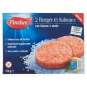 Findus, 2 burger di salmone con limone e aneto surgelato 170 g
