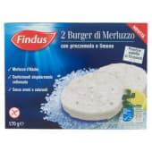 Findus, 2 burger di merluzzo con prezzemolo e limone surgelati 170 g