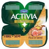 Danone, Activia Fibre Semi latte fermentato al fico e semi conf. 4x125 g, semi e fichi