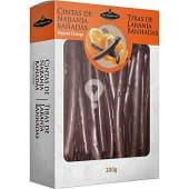 Naranja bañada en chocolate
