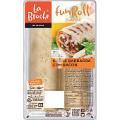 Fun roll carne barbacoa con bacon bandeja 260 gr