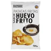 Patatas fritas lisas sabor huevo frito