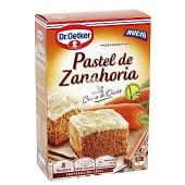 Preparado para pastel de zanahoria caja