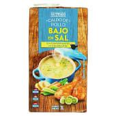 Caldo líquido de pollo bajo en sal
