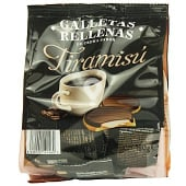 Galleta rellena crema con sabor a tiramisú