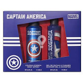 Lote infantil capitan america colonia body spray 200 ml (envase aluminio) + gel / champu 200 ml