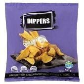 Patata prefrita congelada dippers (para dipear)
