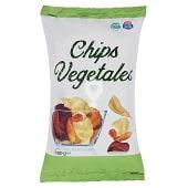 Aperitivo chips de vegetales fritos (zanahoria, chirivia, boniato y remolacha)