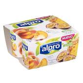Yogur soja 2 con melocoton y 2 piña-maracuyá