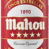 Cerveza Mahou 5 Estrellas Lata