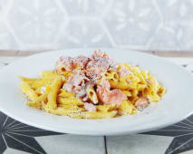 Garganelli salmon y vodka
