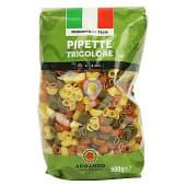 Pipette tricolore pasta italiana (tiburón)