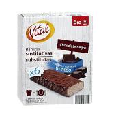 Barritas sustitutivas chocolate negro caja