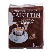 Café monodosis tostado molido natural filtro tipo calcetín
