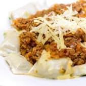 Ravioles de carne y verdura a la bolognesa (550 gr.)