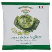 Campi Reali, le Verdurissime verza dolce tagliata surgelata foglia per foglia 450 g