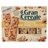 Barilla, Gran Cereale, barrette di cereali grano mandorle e semi di zucca 5 pezzi 135 g
