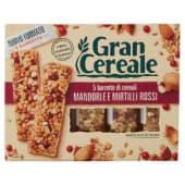 Barilla, Gran Cereale, barrette di cereali mandorle e mirtilli rossi 5 pezzi 135 g
