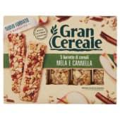 Barilla, Gran Cereale, barrette di cereali mela e cannella 5 pezzi 135 g